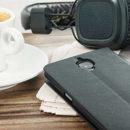 Olixar Leather-Style OnePlus 3T / 3 Lommebok Deksel - Sort