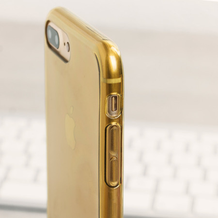 free shipping b9b01 cca19 Olixar FlexiShield iPhone 8 Plus / 7 Plus Gel Case - Gold