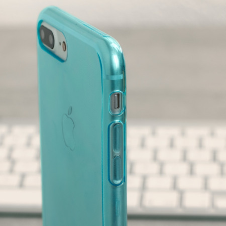 Olixar FlexiShield iPhone 7 Plus Gel Case - Blue