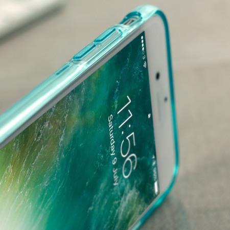 The olixar flexishield iphone 7 gel case blue keep mine