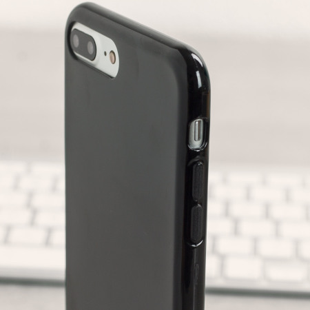 Olixar FlexiShield iPhone 8 Plus / 7 Plus Gel Case - Jet Black
