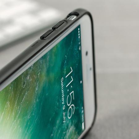 FlexiShield iPhone 8 Plus / 7 Plus Gel Hülle in Jet Schwarz