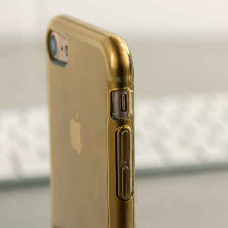 Olixar FlexiShield iPhone 7 Gel Case - Gold