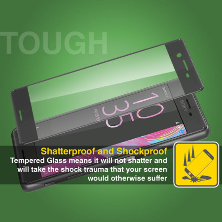 Olixar Full Coverage Sony Xperia X Curved Glass Screen Protector