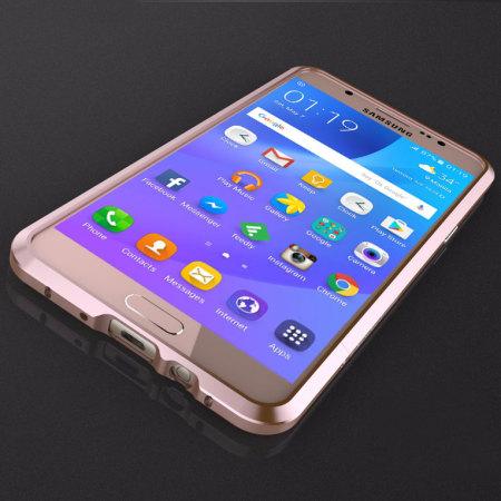 Luphie Blade Sword Samsung Galaxy J7 2016 Aluminium Bumper - Rose Gold