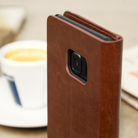 Olixar Leather-Style Samsung Galaxy Note 7 Wallet Case - Brown