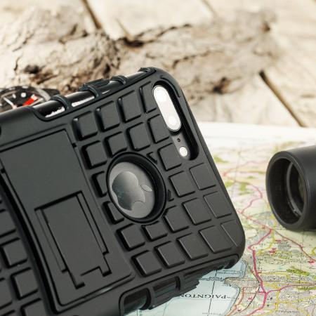 Olixar ArmourDillo iPhone 8 Plus / 7 Plus Protective Case - Black
