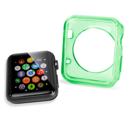 Olixar Soft Protective Apple Watch 3 / 2 / 1 Case - 38mm - Triple Pack