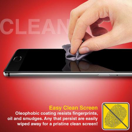 Olixar Full Cover OnePlus 3T / 3 Glass Skärmskydd - Svart