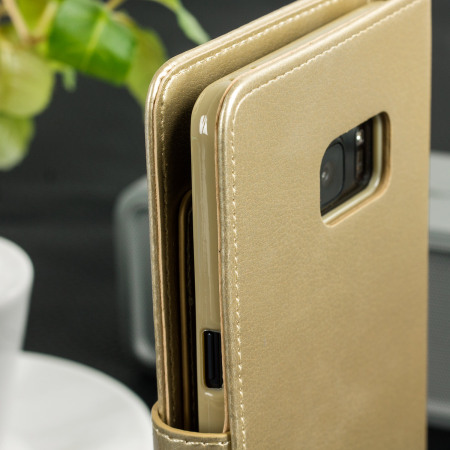 Mercury Rich Diary Samsung Galaxy Note 7 Premium Wallet Case - Gold