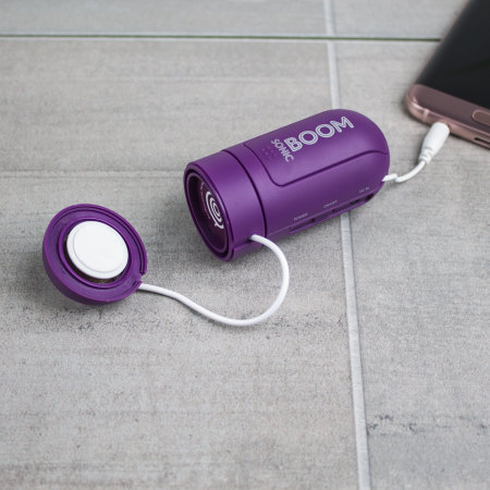 Sonic Boom Portable Vibration Speaker - Purple