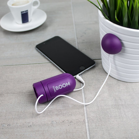 sonic boom portable vibration speaker purple