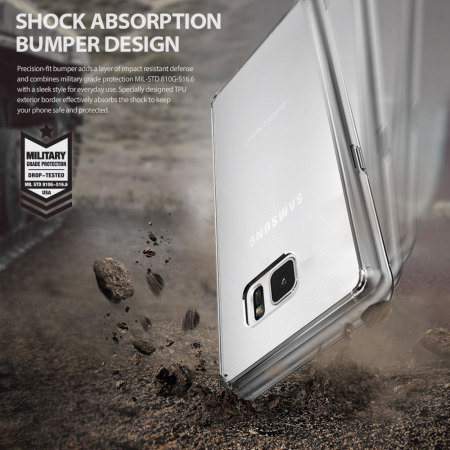 Rearth Ringke Fusion Samsung Galaxy Note 7 Case - Smoke Black