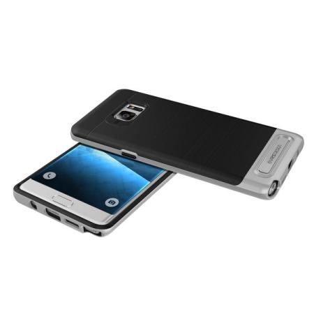 VRS Design High Pro Shield Series Galaxy Note 7 Hülle Leicht Silber