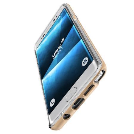 VRS Design Crystal Bumper Samsung Galaxy Note 7 Case - Shine Gold