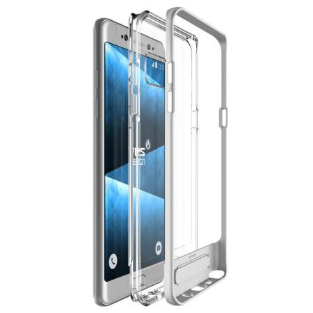 VRS Design Crystal Bumper Samsung Galaxy Note 7 Case - Light Silver