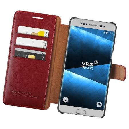 VRS Dandy Leather-Style Samsung Galaxy Note 7 Plånboksfodral - Röd