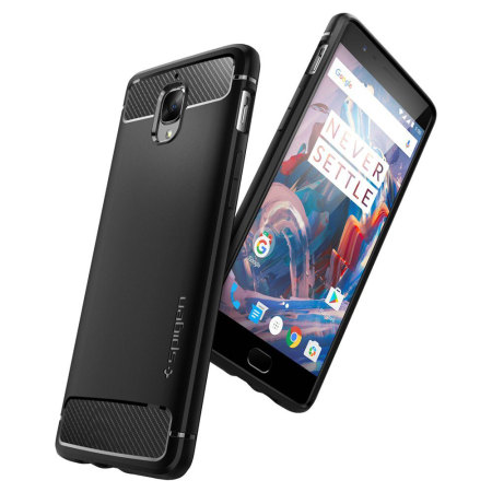 Spigen Rugged Armor OnePlus 3T / 3 Tough Case - Black