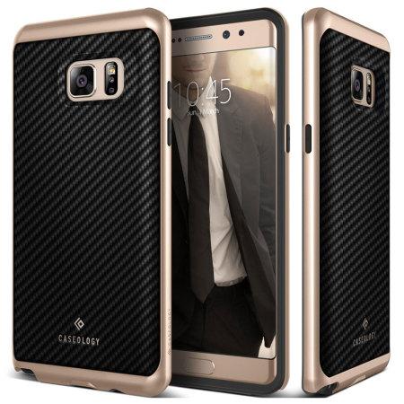 Caseology Envoy Series Samsung Galaxy Note 7 Skal - Kolfiber Svart