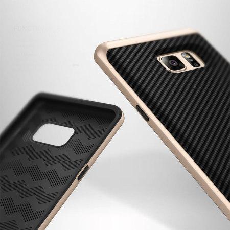 Caseology Envoy Series Samsung Galaxy Note 7 Case - Carbon Fibre Black