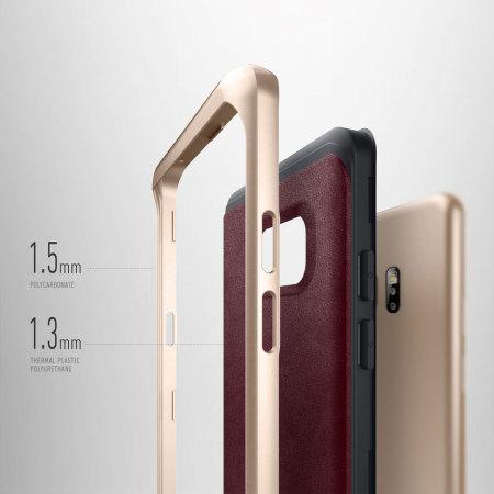 Caseology Envoy Series Samsung Galaxy Note 7 Case - Leather Cherry Oak