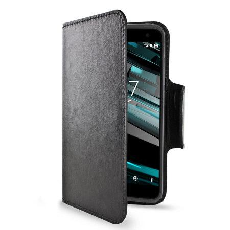 timeless design 61226 d82ae Olixar Leather-Style Vodafone Smart Platinum 7 Wallet Case - Black