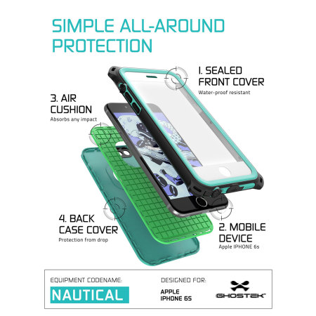 has ghostek nautical series iphone 6s 6 waterproof case teal perfect for