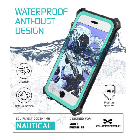 the ghostek nautical series iphone 6s 6 waterproof case teal wonder how many