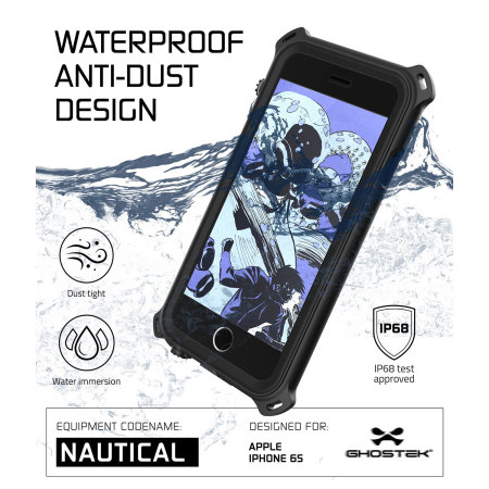 ghostek nautical series iphone 6s 6 waterproof case black 3