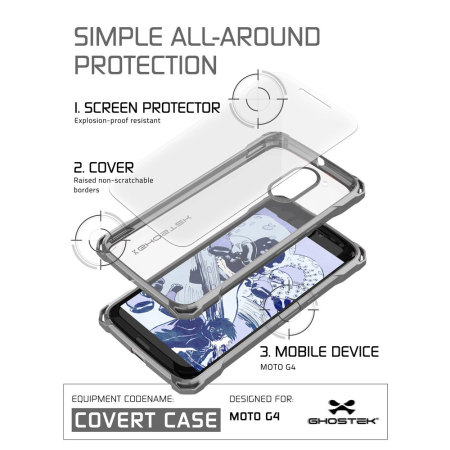 Ghostek Covert Moto G4 Bumper Case - Clear / Black