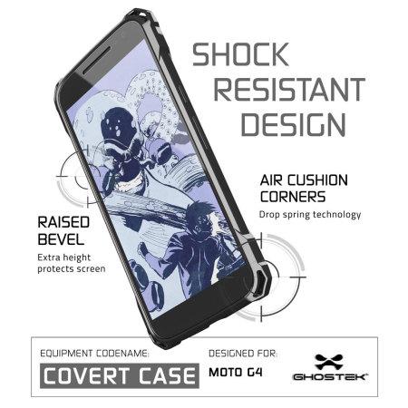 Ghostek Covert Moto G4 Bumper Case - Clear / Black