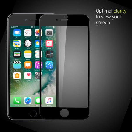 glass iphone screen protector olixar iphone 7 edge to edge tempered glass screen 2310
