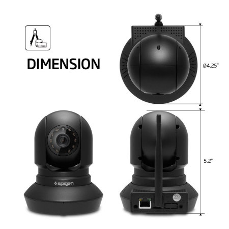 have noted spigen pan tilt hd home surveillance camera with night vision 39, DONGJING