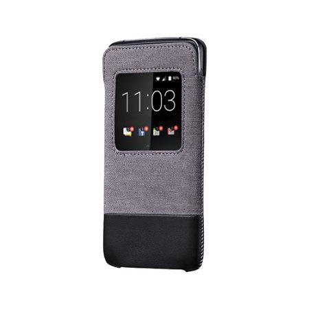 Official Blackberry DTEK50 Smart Pocket Case - Grey/Black