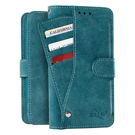 Zizo Slide Out Samsung Galaxy Note 7 Wallet Pouch Case - Blue
