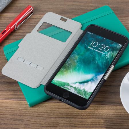 promo code f6330 d0729 Moshi SenseCover iPhone 8 Plus / 7 Plus Smart Case - Charcoal Black