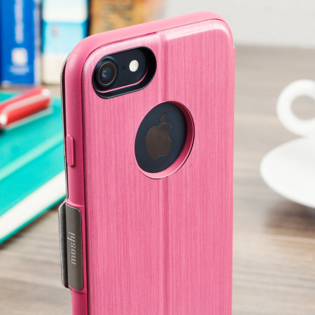 Support Sign moshi sensecover iphone 7 smart case rose pink use