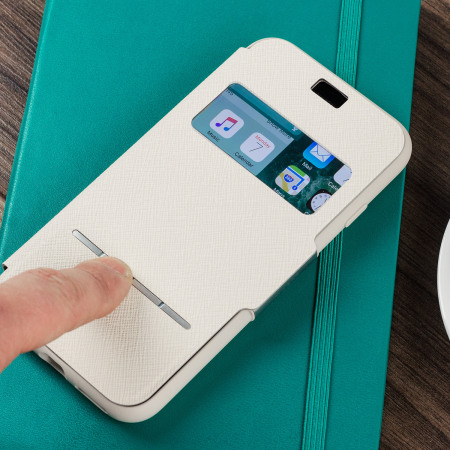 Moshi SenseCover iPhone 7 Smart Case - Stone White