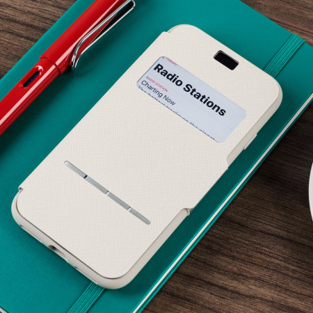 moshi sensecover iphone 8 / 7 smart case - stone white