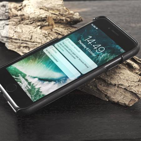 Mozo iPhone 7 Genuine Wood Back Cover - Black Walnut