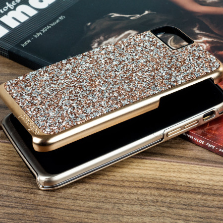 had great experience prodigee fancee iphone 7 glitter case rose gold chip
