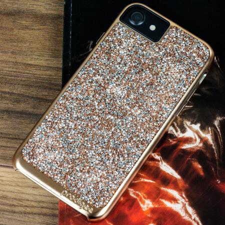 prodigee fancee iphone 7 glitter case rose gold