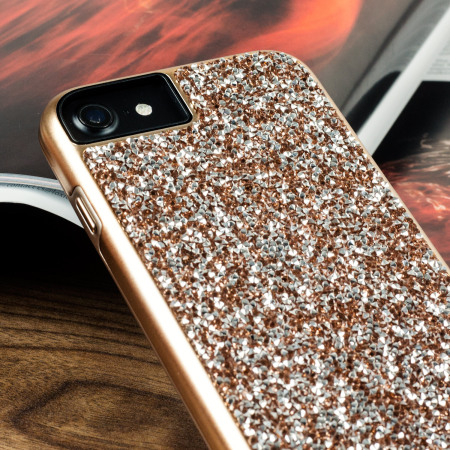 prodigee fancee iphone 7 glitter case rose gold penguins