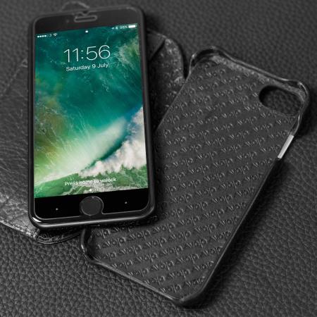 Funda iPhone 7 Vaja Wallet Agenda de Piel - Negra
