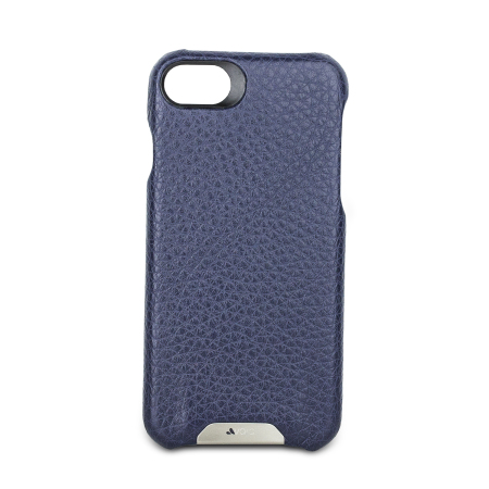 Vaja Grip iPhone 7 Premium Leather Case - Crown Blue / True Blue