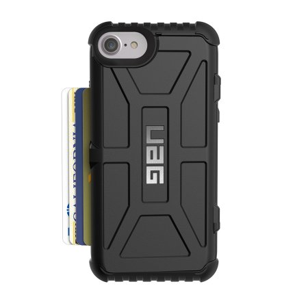 UAG Trooper iPhone 7 Protective Wallet Case - Black