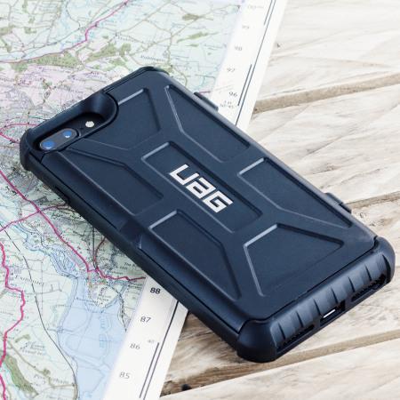 promo code f76b3 1b3d1 UAG Trooper iPhone 8 Plus / 7 Plus Protective Wallet Case - Black