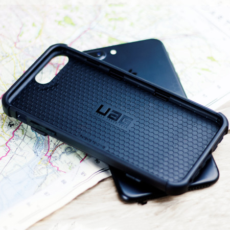 uag trooper iphone 7 plus protective wallet case black and huge material