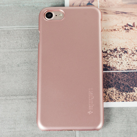 low priced de82a 0c24b Spigen Thin Fit iPhone 7 Shell Case - Rose Gold