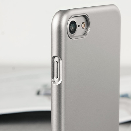 various colors 1920a 3f3db Spigen Thin Fit iPhone 7 Shell Case - Satin Silver